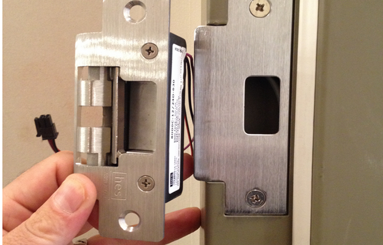Electric Strike Installation strike door & lee 14 c commercial electric strike door lock kit  at couponss.co